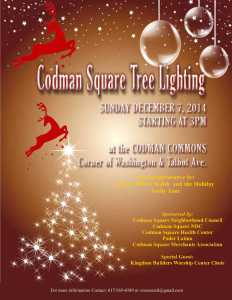 flyer for tree lighting