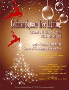 flyer for tree lighting