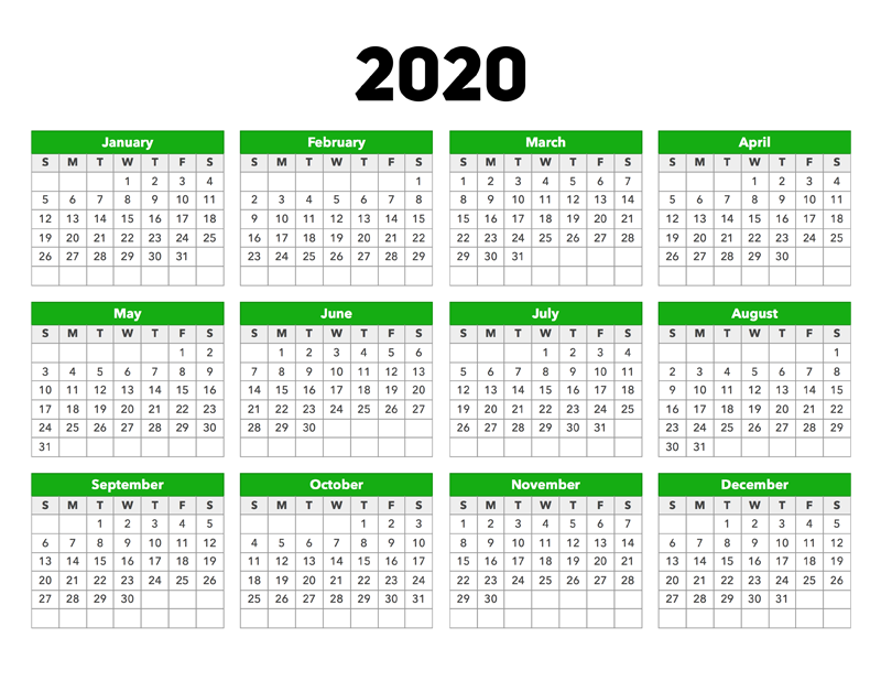 This image has an empty alt attribute; its file name is calendar-2020.png